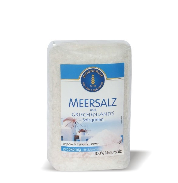 Meersalz aus Griechenland, grob, 1 kg