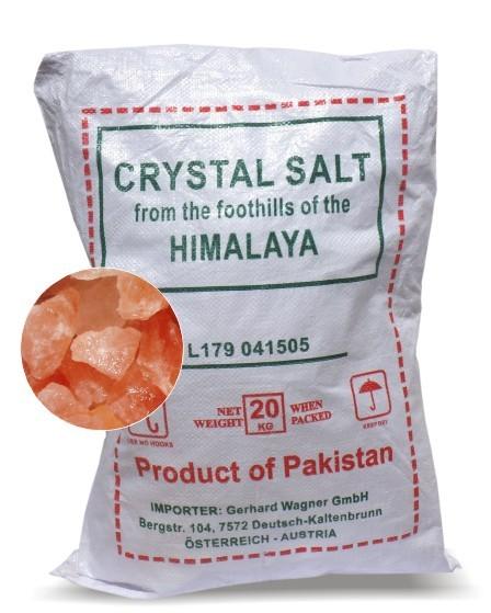 Salzkristall-Steine, 20 kg Sack