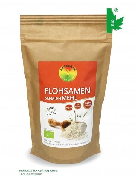 Flohsamenschalen Mehl im Bio-Papierbeutel, 300g