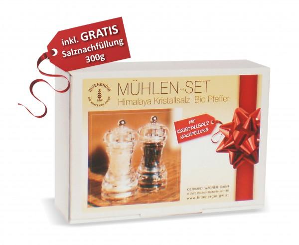 Mühlen-Set SALZ & PFEFFER inkl. Salznachfüllung, 345 g