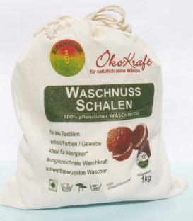 ÖkoKraft Waschnuss-Schalen inkl. 1 Waschbeutel, 1 kg