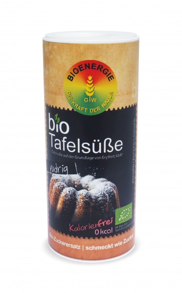 bioTafelsüße, Erythrit fein pudrig, 80g