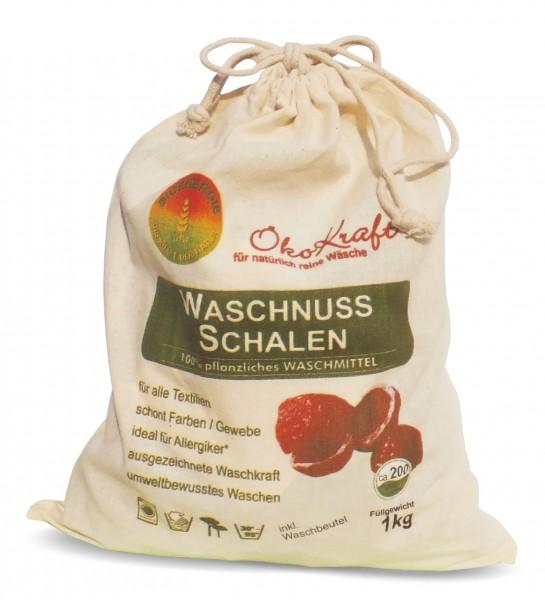 BIO-WASCHNUSS-SCHALEN inkl. 1 Waschbeutel, 1 kg