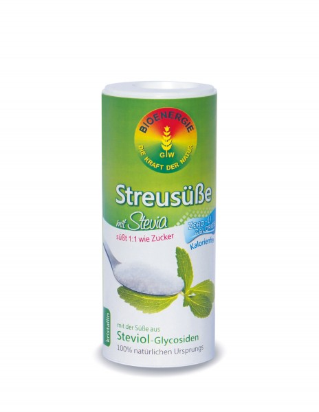 Streusüße mit Stevia 1:1, kristallin, 120 g