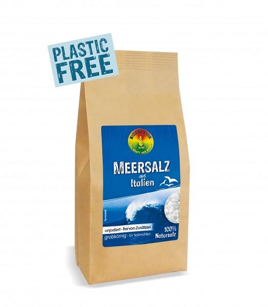 Meersalz aus Italien, grob, im Bio-Papierbeutel, 500 g