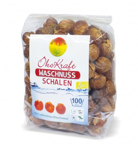 ÖkoKraft Waschnuss-Schalen inkl. 1 Waschbeutel, 500 g