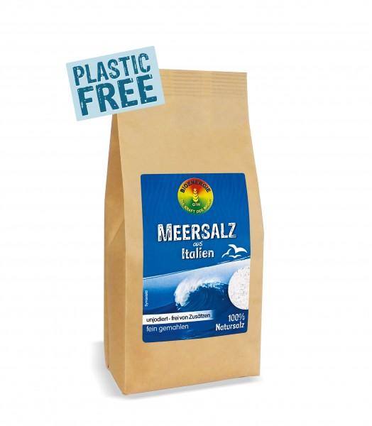 Meersalz aus Italien, fein, im Bio-Papierbeutel, 500 g