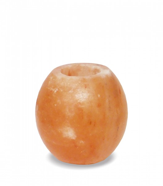 Salzkristall-Teelicht AMPHORE, geschliffen