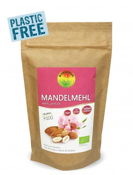 Mandelmehl weiß, im Bio-Papierbeutel. 250g